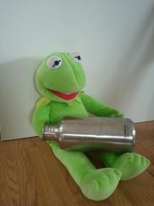 Kermit's water bottle