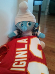 One of the many jerseys Smurfy found this morning.