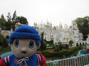 "It's a small world. Sing with me, ""It's a small world..."""